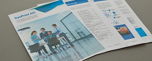 Text und Redaktion für Verkaufsbroschüre
