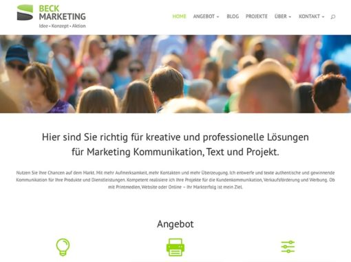 Neue Website Beck Marketing