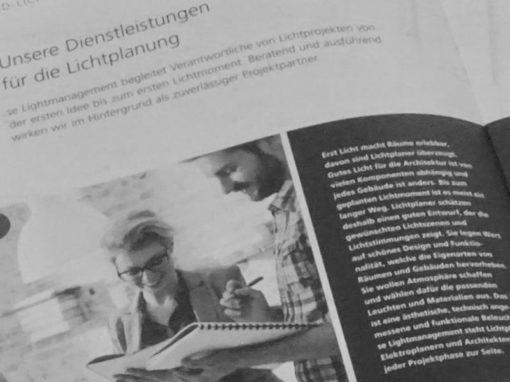 Imagebroschüre: Struktur und Text