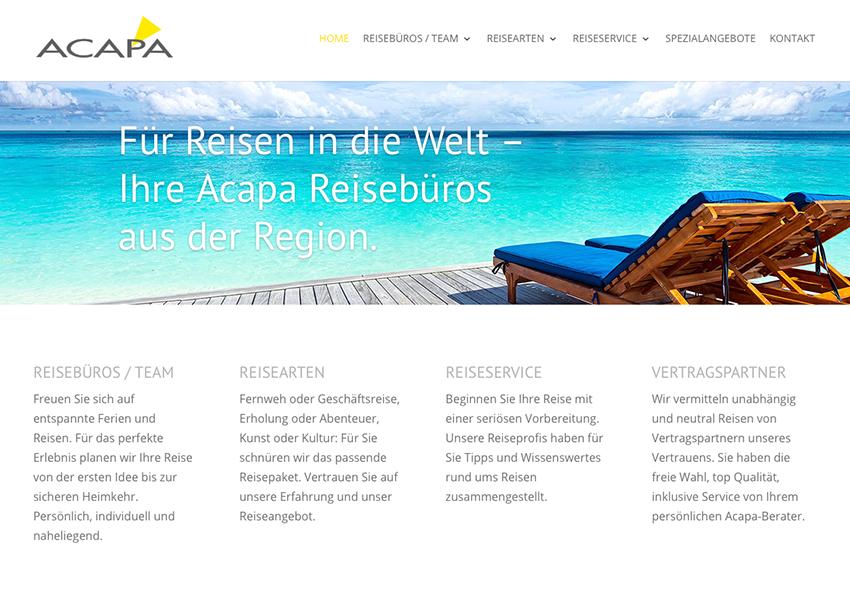 Neue Website: Projektleitung, Konzept und Text