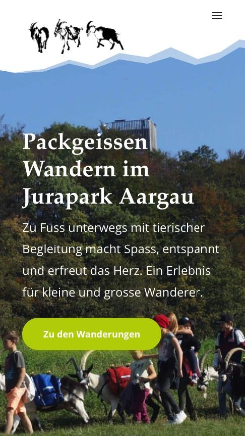 Packgeissen Wanderung Projektdetails Website Response Smartphone von Beck Marketing