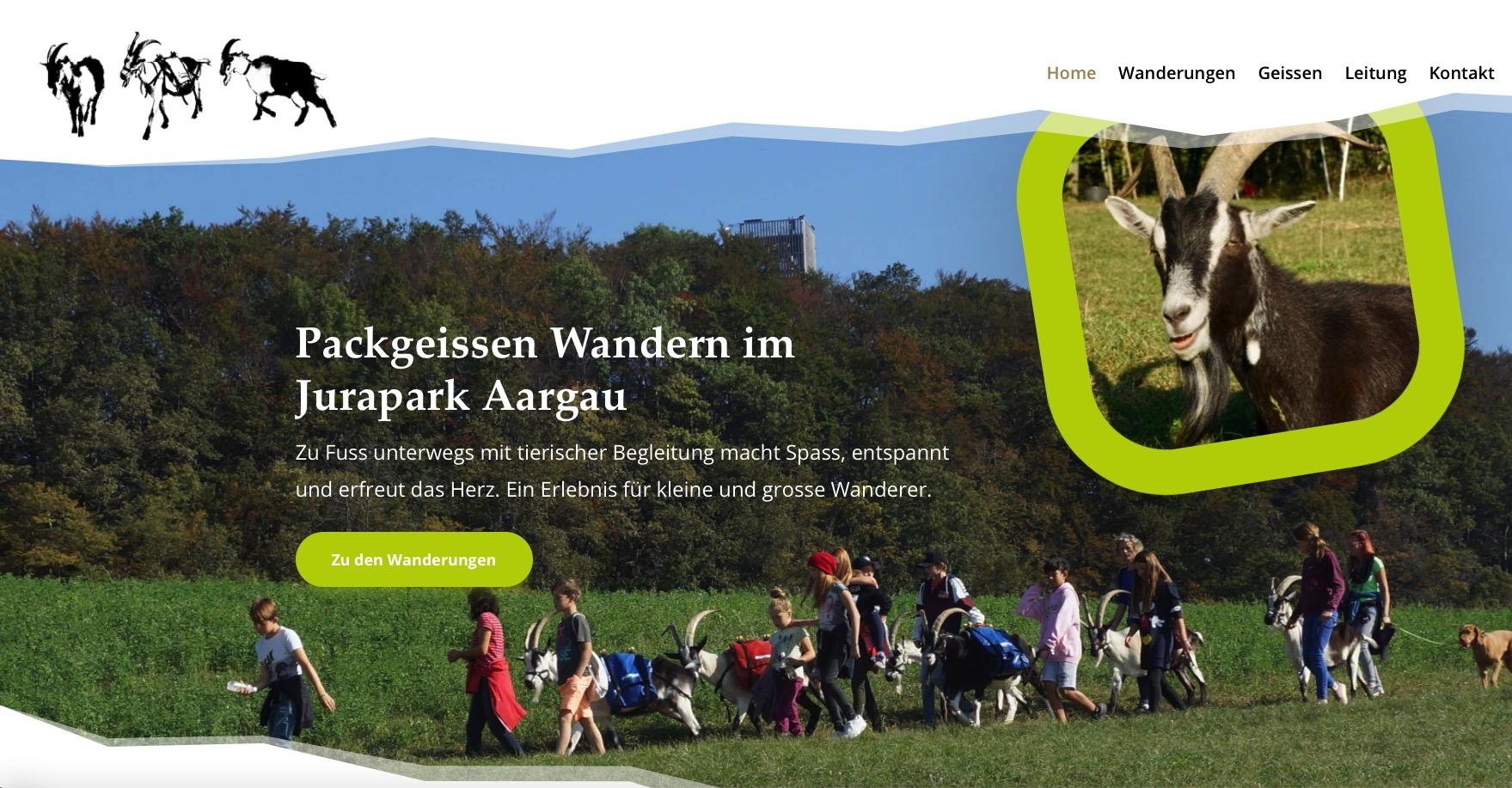 Packgeissen Wanderung Homepage von Beck Marketing